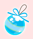 オーナメント(青)