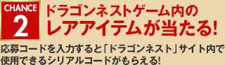 CHANCE2 ドラゴンネストゲーム内のレアアイテムが当たる!