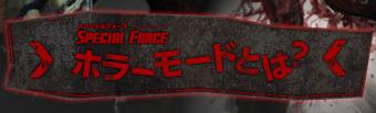 SPECIAL FORCE�@�z���[���[�h�Ƃ́H