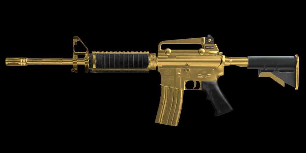 buttonX,M4A1 Mk2 Gold