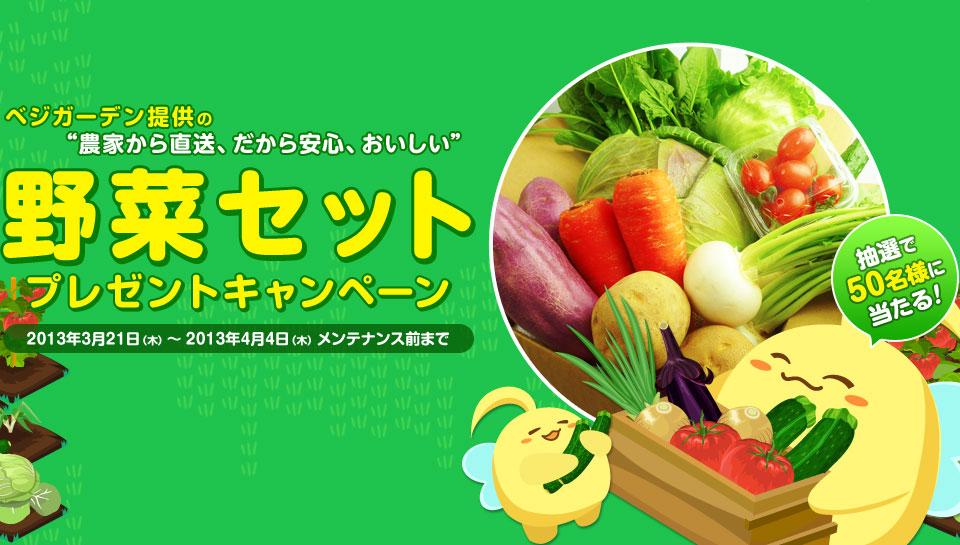 「野菜セット」プレゼントキャンペーン
