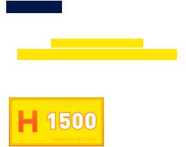 先着5名様:超イケメンパーツで揃えた特別なトモダチ「超イケメン」完成でハンコイン商品券1,000円分